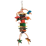 Dynamite Wood & Rope Parrot Toy - Medium