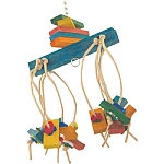 Picatchou Wood & Rope Parrot Toy