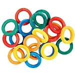 Coloured Hardwood Hoops Parrot Toy Making Part - 20 Pack