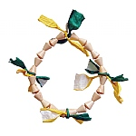 Natural Wood Block Ring Parrot Toy