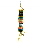 Cookie Stack Wood & Cardboard Parrot Toy Small