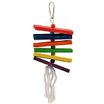 Coloured Stacker Wooden Parrot Toy - Small