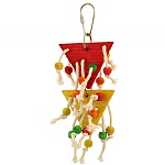 Double Beaded Triangle Parrot Toy