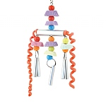 Chime Time Parrot Toy with Mirrors and Calcium Chews