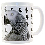 50 Shades Of African Grey Parrot Mug
