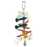 Triple Dowel Stacker Parrot Toy - Mini