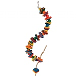 Spiral Wood and Rope Parrot Toy - Small