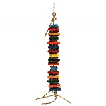 Cookie Stack Wood & Cardboard Parrot Toy - Mini