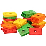 Colourful Wooden Slats Medium - Parrot Toy Parts - 29 Pack